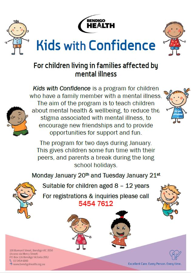 Kids With Confidence dates